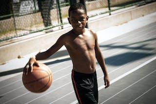 Boy dribbling ball Fan 2013 FIBA 3x3 World Tour Rio de Janeiro