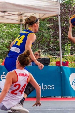 24 Ancuţa Stoenescu (ROU) - 44 Gabriela Marginean (ROU) - 24 Evita Herminjard (SUI) - 32 Malak Ezzakraoui (SUI)